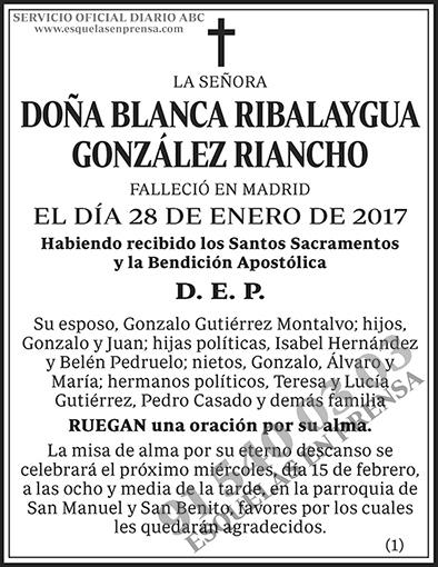 Blanca Ribalaygua González Riancho